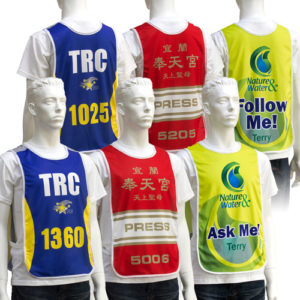 38004YP Polyester Numbered Event Bib Vests by Sublimation