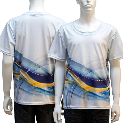 38005YP US-EURO size men polyester round neck T-shirts by sublimation